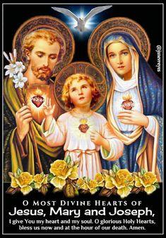 Divine heart of Joseph, Jesus & Mary Catholic Prayers, Catholic Saints, Roman Catholic, Saint Mary Catholic, Pictures Of Jesus Christ, Religious Pictures, Jesus And Mary Pictures, Jesus Mary And Joseph, Saint Joseph