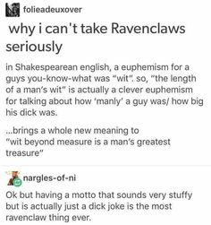 Ravenclaw wit