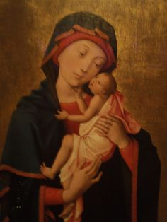 Madonna, Mary and Jesus, Late Gothic painting, Nelson-Atkins Museum