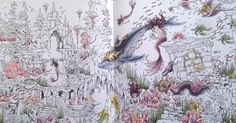 Progress on the deep dea double spread  I really love the whale!   Mythomorphia  Kerby Rosanes #mythomorphia #kerbyrosanes #coloringbook #adultcoloring #adultcoloringbook #arttherapy #coloring #colouring #wip #bayan_boyan #divasdasartes #arte_e_colorir #polychromos #fabercastell #derwent #coloursoft #softpastel #pastelpencil #gelpen #marcoraffine #prismacolor #prismacolorpremier #posca #kohinoor #kohinoormagic #carandache #carandachesupracolor #supracolorsoft #supracolor