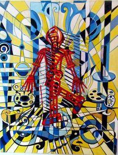 """Saatchi Art Artist Hans-Peter Fleps; Painting, """"Holes in my memories"""" #art"""