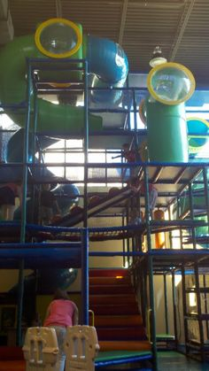 Rock Creek Climbing Tubes - one of our installations. We designed, manufactured and installed this large indoor playground structure at the church.