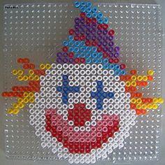 Clown hama beads by Les loisirs de Pat