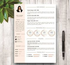 Unique Resume Formats Resume Template With Photo Cover Letter  Cv Template Word