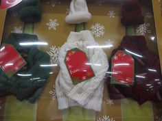 Wine Bottle Sweater Cap Set of THREE Christmas Thanksgiving Cocktails Spirits #Unbranded