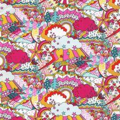 Liberty Tana Lawn Land of Dreams A - Alice Caroline - Liberty fabric, patterns, kits and more - Liberty of London fabric online Liberty Art Fabrics, Liberty Of London Fabric, Liberty Print, Textile Patterns, Print Patterns, Textiles, Cotton Lawn Fabric, Hand Knitting Yarn, Thing 1