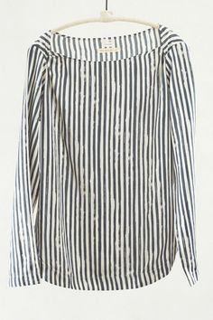 Charcoal Stripe Pullover Top by Pomandere | shopheist.com