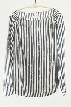 Charcoal Stripe Pullover Top by Pomandere   shopheist.com