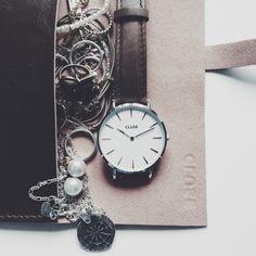 LA BOHÈME SILVER WHITE/BROWN #cluse #watch #minimal #fashion #style