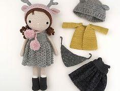 Autumn et Winter Crochet Crafts, Crochet Toys, Free Crochet, Knit Crochet, Crochet Dolls Free Patterns, Crochet Doll Pattern, Crochet Doll Clothes, Knitted Dolls, Crochet Patterns Amigurumi