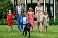 King Willem-Alexander and Queen Maxima of the Netherlands pose for new official photographs in 2013. The family pictures, were taken at the Horsten Estate in Wassenaar.