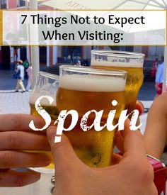 It's a different world over here when it comes to eating and drinking... Don't make my mistakes when visiting Spain!