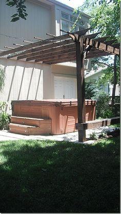 Hot Tub Patio and Pergola