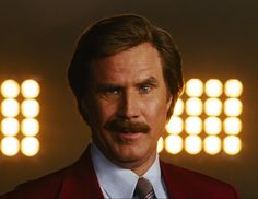 Will Ferrell in Anchorman