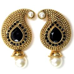 traditional-paisley-stud-earrings-black-1.jpg (1000×1000)