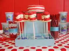 Cat In The Hat Cake Pops