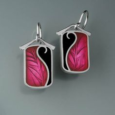 Hey, I found this really awesome Etsy listing at https://www.etsy.com/listing/188153722/pmc-sterling-and-resin-earrings