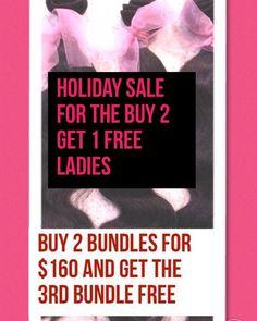 This sale is still going on ladies Buy two bundles and get the third bundle free on  6a hair lengths from 12-24 get this deal ladies  by invoice only #Hairextensions#Brazilianhair#Indianhair#Highqualityhair#Hairforsale#Bundledeal#Affordable#Virginhair#Indianhair#Luxuryhair#Springsale#Sale#Charlottehair#Nyhair#Miamihair#Atlantahair#Houstonhair#Bostonhair#Memphishair#Jamaicahair#Detroithair#LAhair#Virginiahair#Ohiohair#LasVegashair#Columbiahair#NewJerseyhair#wholesalehair by lavishbundles2_go