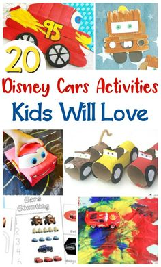 The most fun Disney Cars activities for kids with crafts, colouring sheets, activity sheets and busy bags inspired by Lightning McQueen, Mater and friends!