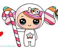 drawings of dresses Kawaii Girl Drawings, Cute Girl Drawing, Cartoon Girl Drawing, Disney Drawings, Cute Kawaii Girl, Kawaii Art, Kawaii Anime, Cartoon Drawings Of Animals, Cute Animal Drawings