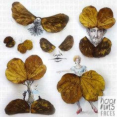 Artist Victor Nunes gives a new purpose to everything he touches. By surrounding different objects with simple line drawings, he creates playful illustrations. Popcorn turns into faces, lettuce into hair and dresses, scissors into animals and pencil shavings into mohawks and wings.  More info: Fac