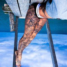 70 Leg Sleeve Tattoo Favorites This Year 70 Leg Sleeve Tattoo Favorites This Year. 125 Best Leg Tattoos For Men Cool Ideas Designs 2019 Guide. Full Leg Tattoos, Full Sleeve Tattoos, Sleeve Tattoos For Women, Tattoo On Leg, Back Of Thigh Tattoo Women, Realistic Tattoo Sleeve, Thigh Tattoo Men, Full Tattoo, Thigh Tattoo Designs