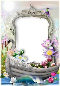 Best Photo Frames, Family Photo Frames, Picture Frames, Framed Wallpaper, Flower Wallpaper, Photo Frame Maker, Molduras Vintage, Disney Frames, Flower Art Drawing