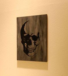 Skull Canvas // Acrylic Background via Etsy
