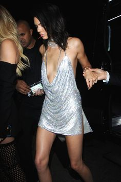 There's Not a Lot to Kendall's Sexy B-Day Dress —but It Took 7 Days to Make