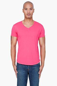ORLEBAR BROWN Coral Bobby V-Neck T-Shirt