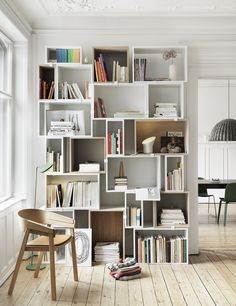 Stack your modules to fit your wall - Muuto Design bookshelves.
