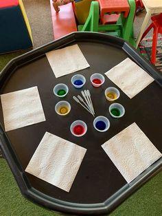 Eyfs Activities, Nursery Activities, Outdoor Activities For Kids, Preschool Tables, Preschool Crafts, Water Tray Ideas Eyfs, Tuff Tray Ideas Toddlers, Funky Fingers, Eyfs Classroom