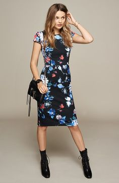 Nordstrom Dresses - Betsey+Johnson+Print+Stretch+Midi+Dress+available+at+ Betsey Johnson, Dress Skirt, Dress Up, Sheath Dress, Nordstrom Dresses, Couture, Cute Dresses, Women's Dresses, Dress To Impress