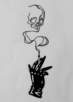 Skull in the smoke Piercings, Piercing Tattoo, 16 Tattoo, Tattoo Drawings, Smoke Tattoo, Stick And Poke, Future Tattoos, Skin Art, Body Mods
