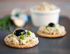 chive and bean mash oatcakes