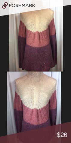Anthro Sleeping on Snow color block sweater Excellent condition! Sweater is 27 inches in length. 70% acrylic, 20% wool and 10% alpaca. Smoke free and pet free home. Anthropologie Sweaters Cowl & Turtlenecks