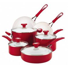SilverStone Ceramic Cxi 12 Piece Cookware Set Chili Red - 16047