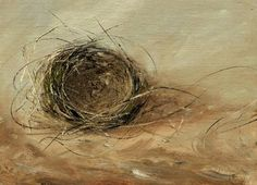 A Little Nest,  © Nigel Fletcher. http://www.nigelfletcher.co.uk/cotswold-sketchbook - A lovely delicate painting showing care and attention to the subject matter like the builder of the nest.