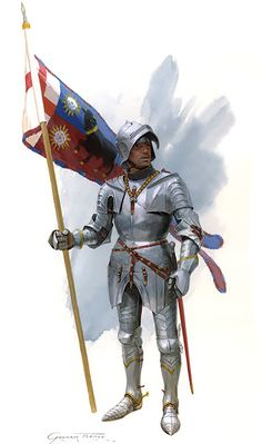 "Edward IV's standard bearer at the Battle of Bosworth"""