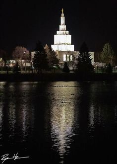 Idaho Falls Temple by RyanTHarris Lds Temple Pictures, Lds Pictures, Mormon Temples, Lds Temples, Beautiful Buildings, Beautiful Places, Idaho Falls Temple, Book Of Mormon, Latter Day Saints