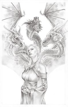 Game of Thrones - Daenerys by Mike S. Miller * - Art Vault