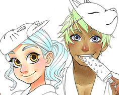 Chihiro Howe Manga Style Character Tutorial - coloring hair step one