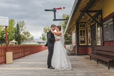 Leah & Patrick's geeky Heritage Park wedding is full of amazing nerdy decor inspiration! By Calgary wedding photographer Anna M. Calgary Wedding Venues, Outdoor Wedding Venues, Nontraditional Wedding, Park Weddings, Wedding Portraits, Tulle, White Dress, Wedding Photography, Bride