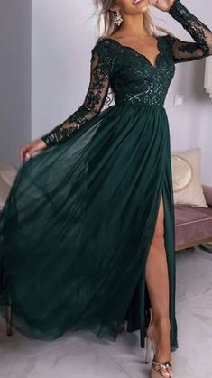Prom Dresses Long With Sleeves, Prom Outfits, Cheap Evening Dresses, A Line Prom Dresses, Beautiful Prom Dresses, Ball Dresses, Grad Dresses, Pretty Dresses, Evening Gowns