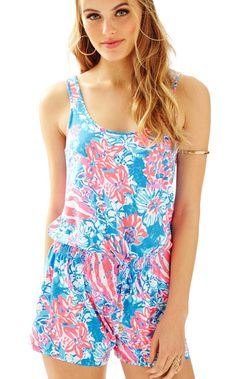 9c29c4159635 TALA ROMPER BAY BLUE POP POP BY LILLY PULITZER Jumpsuits For Women