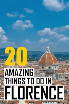 A massive travel guide to the best things to do in Florence. Plan your perfect Italy itinerary. Where to stay, when to visit and what to see in Florence. Note: The video only includes 10 tips, click through to the article to read all about 10 other places Italy Travel Tips, Europe Travel Guide, Travel Guides, Travel Info, Travel Destinations, Cheap Travel, Best Places To Travel, Cool Places To Visit, Things To Do In Italy