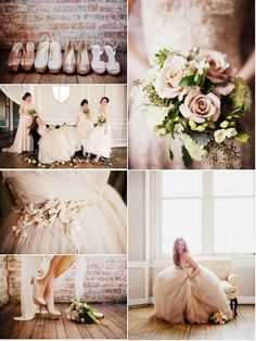 Wedding in pastel and powder pink, with green and lots of cream shades