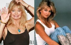 Then and now - Goldie Hawn