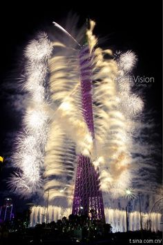 Fireworks from Canton Tower