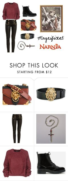 """Narnia"" by ozsofka on Polyvore featuring Prada, Alberta Ferretti, Balmain, Tom Ford and CHARLES & KEITH"